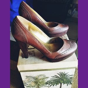 "Brown ""GUESS by MARCIANO"" Heels"